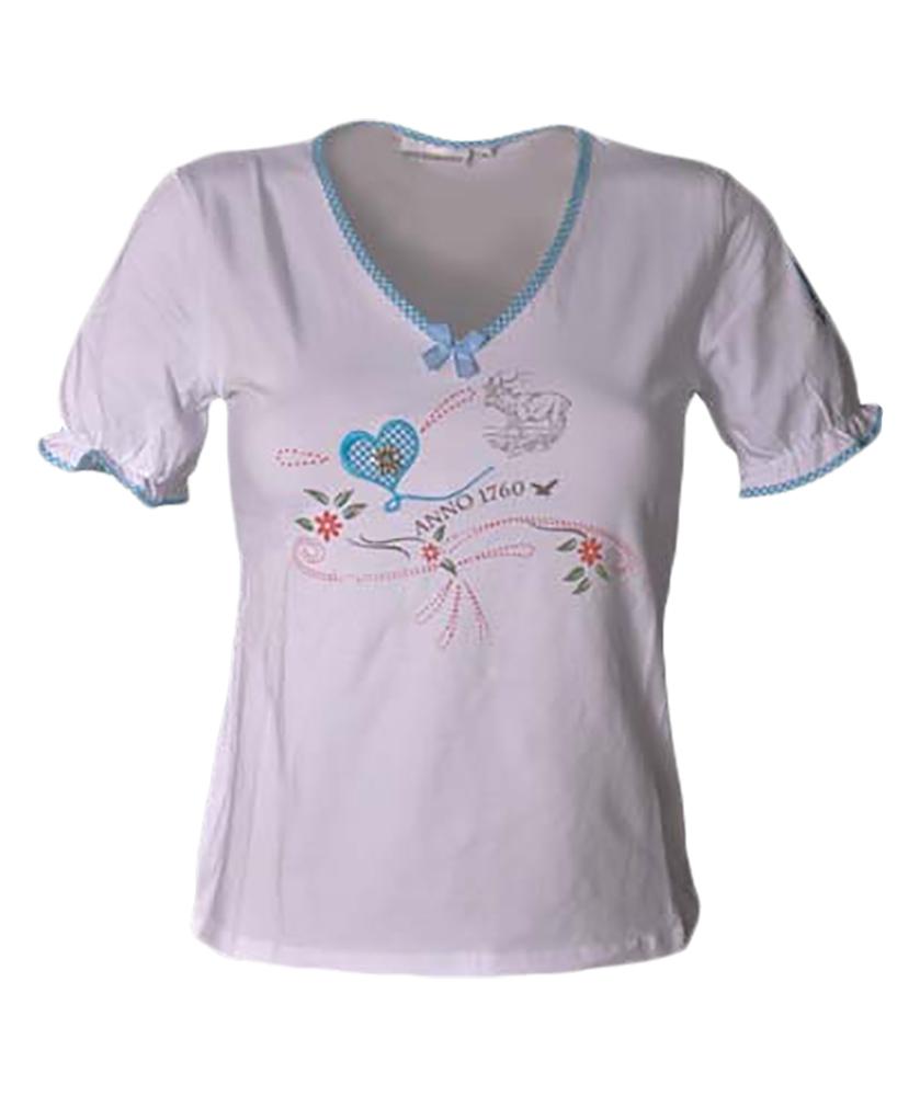 shirt wei t rkis v stockerpoint trachtenshirts damen. Black Bedroom Furniture Sets. Home Design Ideas