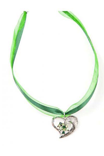 Dirndlkette Herz grün
