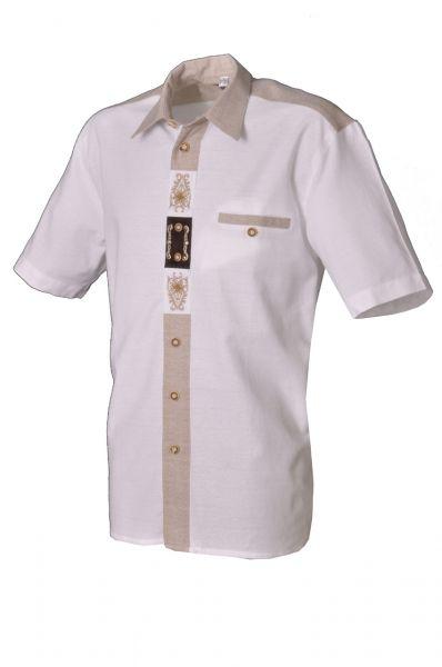 Trachtenhemd Grainet Kurzarm weiß OS Trachten