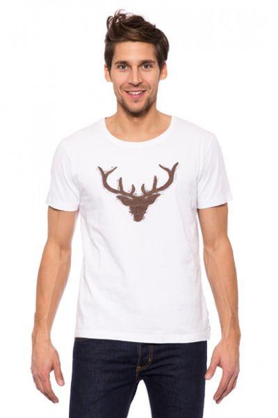 Trachten T-Shirt weiss Wilder Hirsch Krüger