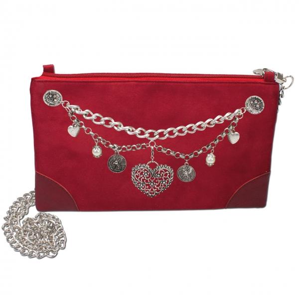 Trachten Handtasche Clutch Charivari rot
