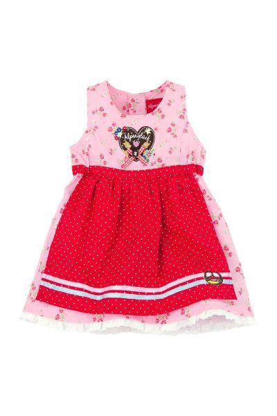 Kinderdirndl Herz Alpenglück rosa Bondi
