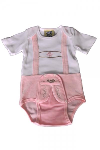 Baby Trachtenbody Xena rosa/weiß Isar Trachten
