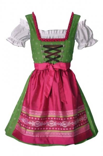 Teenagerdirndl Kaycee grün/pink 3-tlg. Trachtenset Isar Trachten Fräulein Prachtvoll