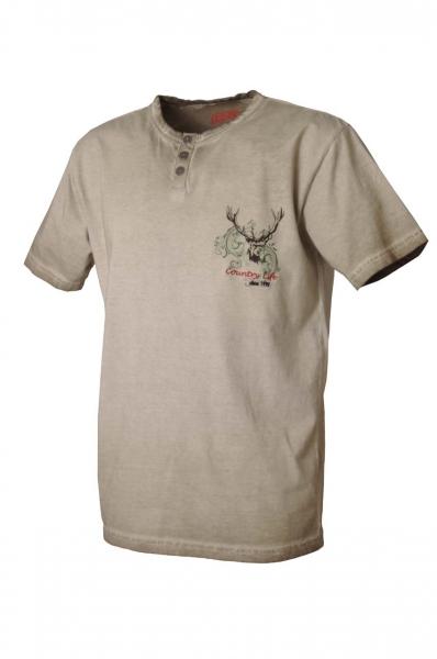 Trachtenshirt David sand T-Shirt Lekra