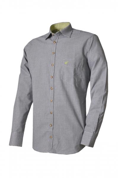 Trachtenhemd Paul dunkelgrün Karo Slim Line OS Trachten