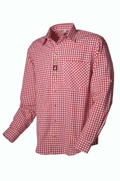 Trachtenhemd Ferdi rot OS-Trachten