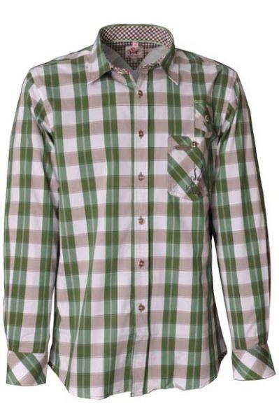 Trachtenhemd Nevada grün Karo Spieth & Wensky