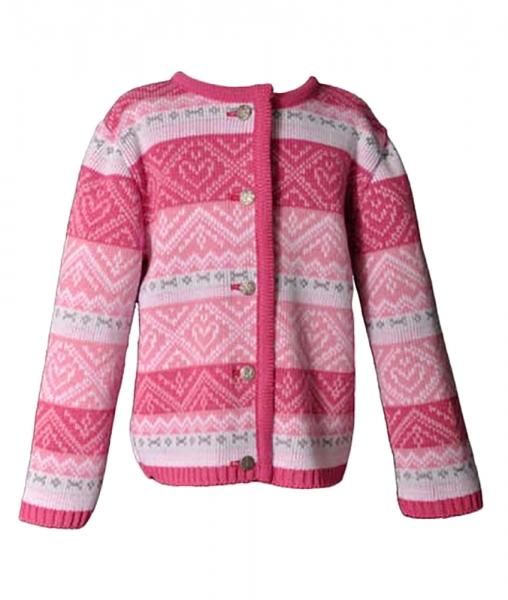 Norweger Strickjacke Annette pink Isar Trachten