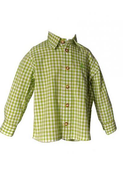 Kinder Trachtenhemd Moritz giftgrün OS Trachten