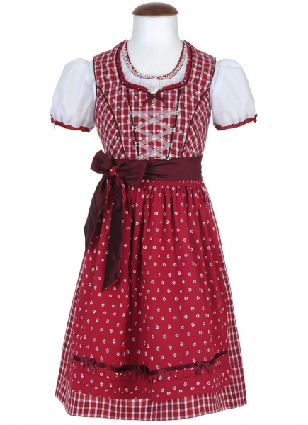 Kinderdirndl Däumling rot Trachtenset 3-tlg. Spieth & Wensky