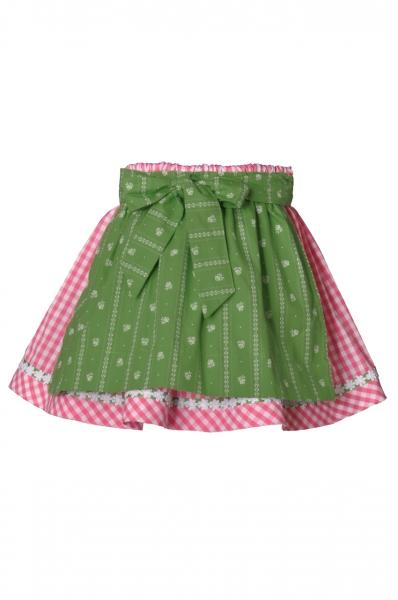 Kinder Trachtenrock Fraunberg pink/grün Isar Trachten