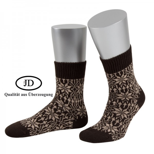 Norwegersocken Socken Marksteft braun beige JD