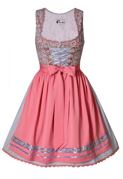 Dirndl mini 55 cm Wally hellblau Bayer Madl
