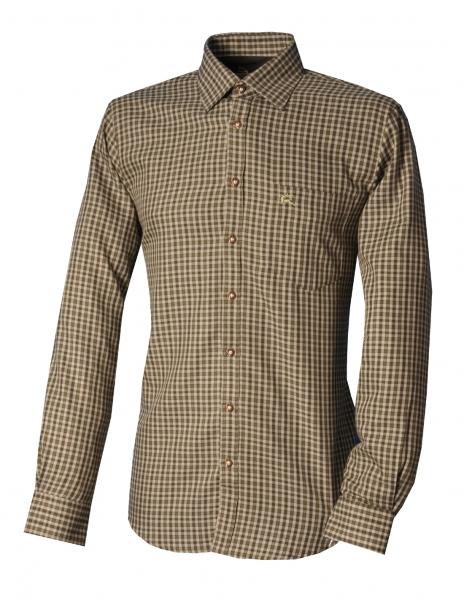 Trachtenhemd Buchloh Karo grün dunkelgrün Langarm Regular Fit OS Trachten