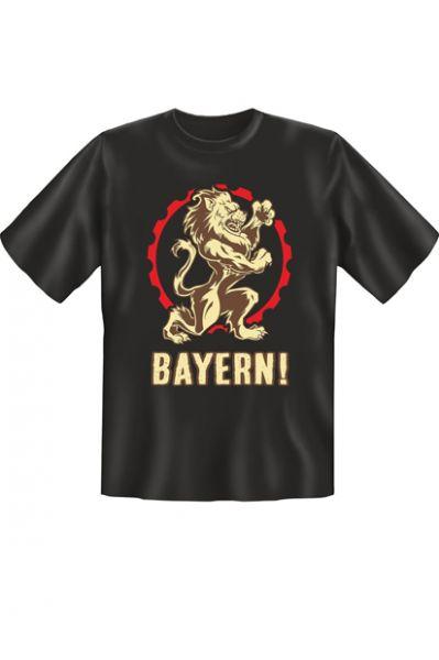 Trachtenshirt Bayern Löwe schwarz T-Shirt