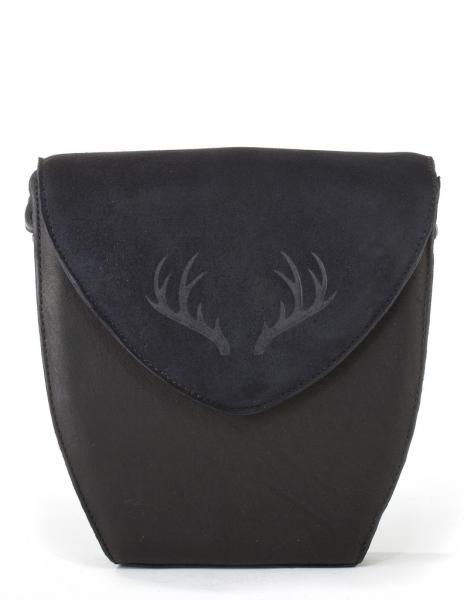 Trachten Handtasche Neubrunn Schwarz Blau Leder Trachtentaschen