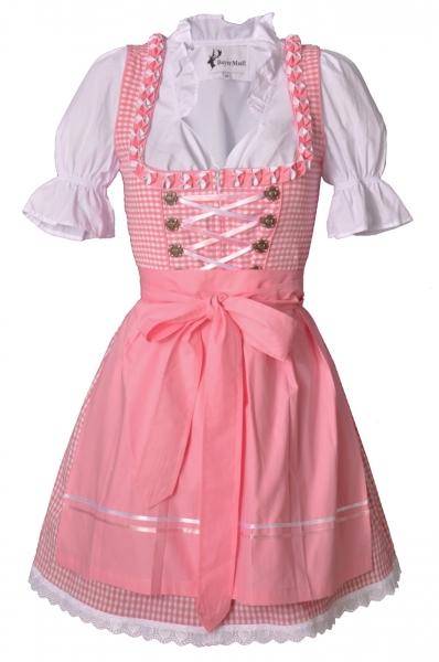 Dirndl mini 50 cm Leticia rosa Trachtenset 3-tlg. Bayer Madl