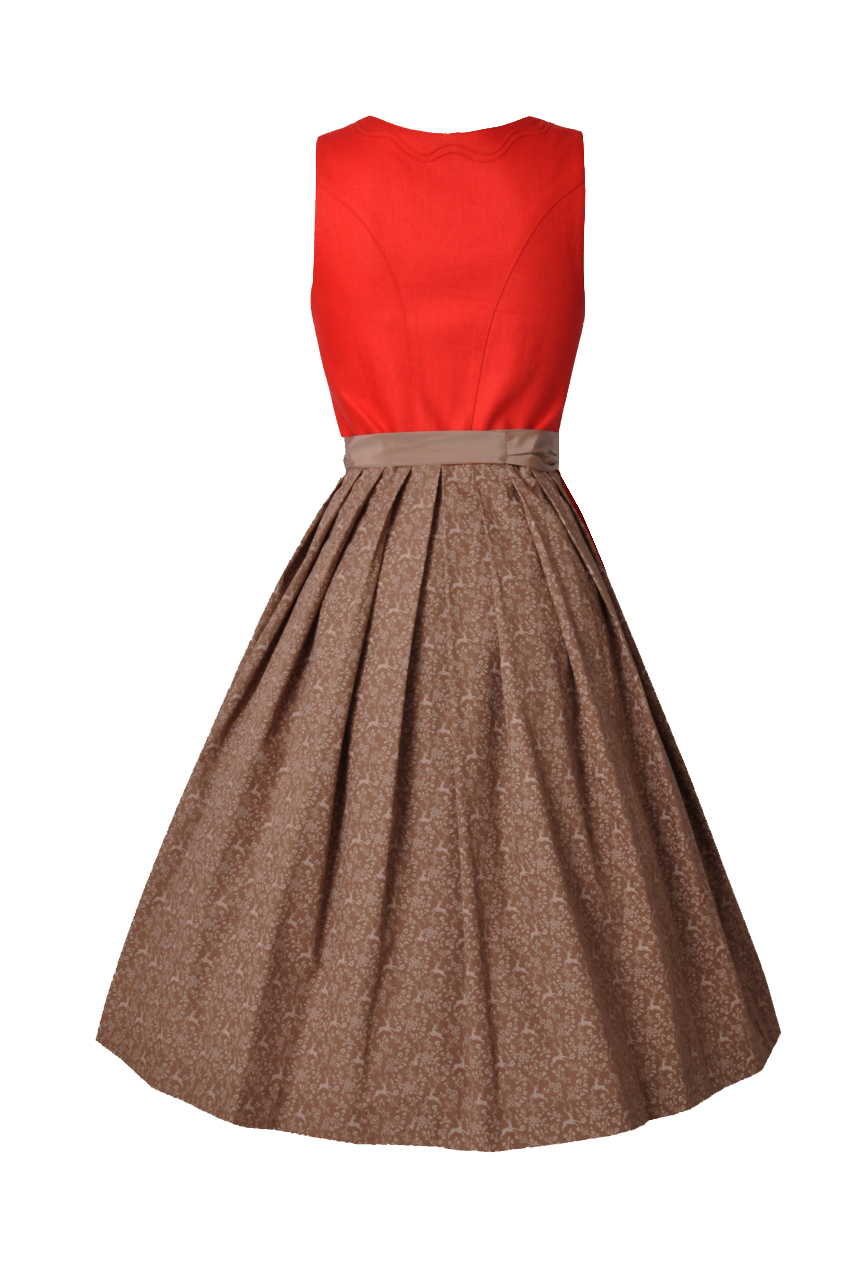 9d08e97e704ef6 Hammerschmid Damen Trachten-Mode Midi Dirndl Schliersee in Grau  traditionell Bekleidung