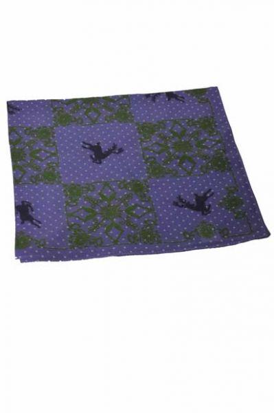 Trachtentuch springender Hirsch lila