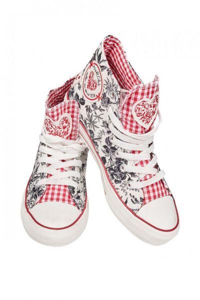 Sneaker Black&White schwarz/weiß/rot Krüger Madl