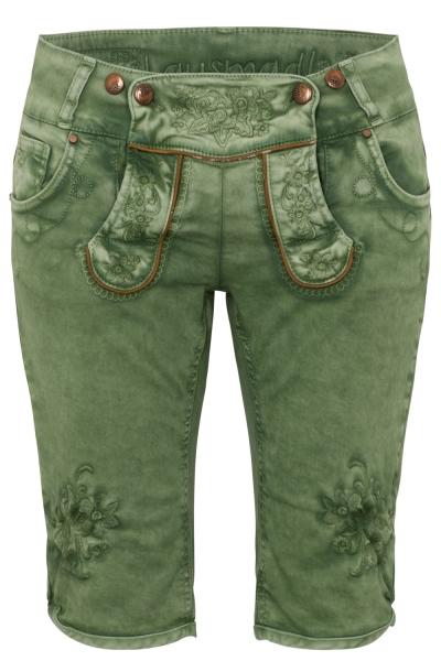 Textilhose Jeansbermuda Ovida tannengrün grün Hangowear