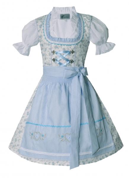 Kinderdirndl Jugenddirndl Kleinaitingen creme blau Set 3-tlg. Bayer Madl
