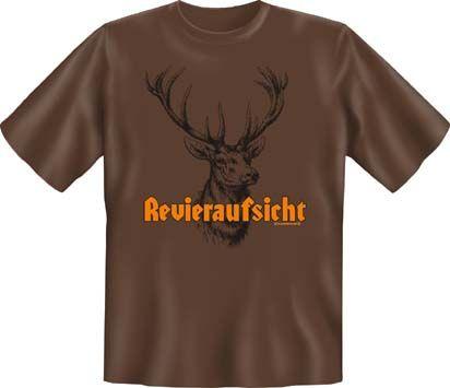 Trachtenshirt Revieraufsicht braun T-Shirt