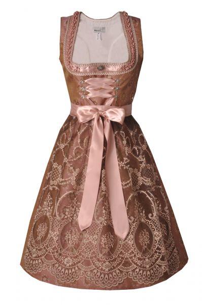 Dirndl midi 65cm Lucilla rosa/mauve Marjo