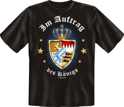 Trachtenshirt Wappen Im Auftrag des Königs schwarz T-Shirt