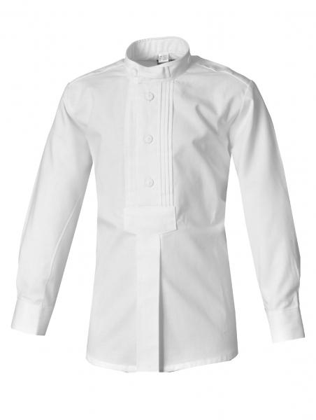 Kinder Trachtenhemd Schonungen weiß Schlupfhemd Langarm Biesen OS-Trachten