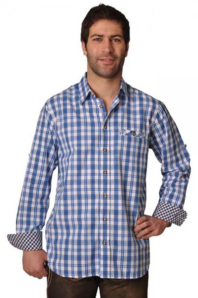 Trachtenhemd Gideon royal/navy Lekra