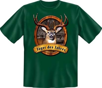 Trachtenshirt Jäger des Jahres grün T-Shirt