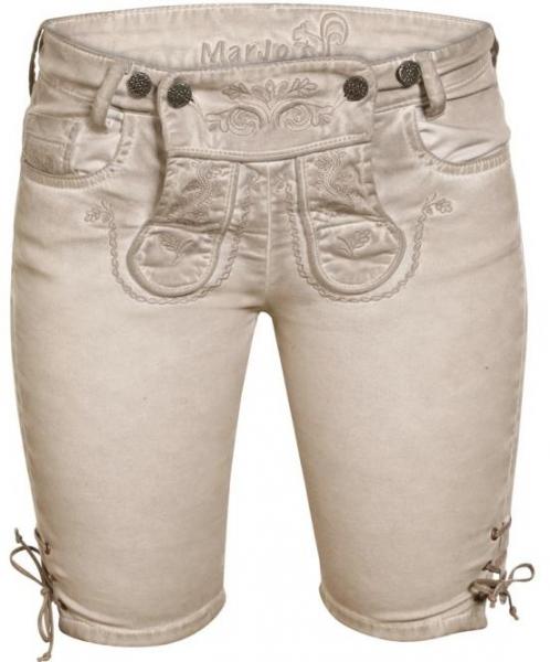Trachtenjeans Franzi stein Jeans Bermuda Marjo