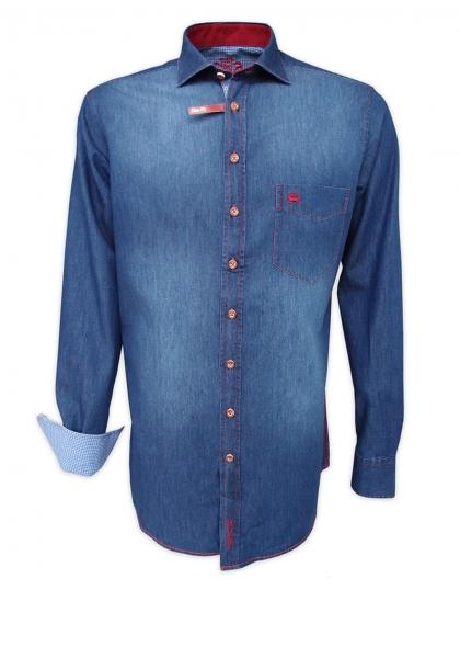 Trachtenhemd Brand marine/blau Slim Fit OS Trachten