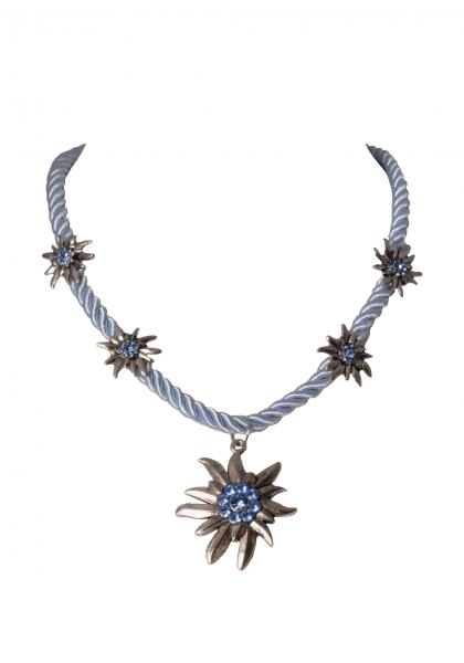Dirndlkette Trachtenkette Fahrenzhausen Edelweiß hellblau