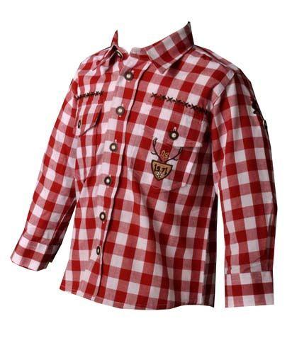 Kinder Trachtenhemd Andy rot OS Trachten