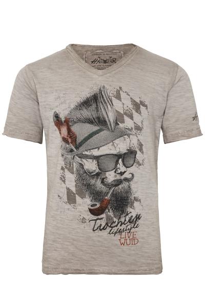 Trachtenshirt T-Shirt Franzl Kids beige braun Hangowear