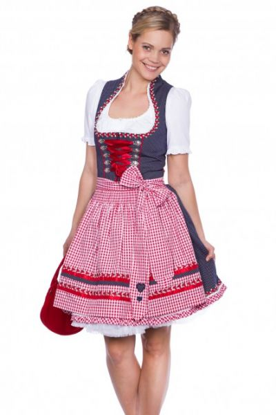 # AKTION DIRNDL DESIGNER MINIDIRNDL KRÜGER MADL MAGIC MOMENT BLAU ROT 50 CM