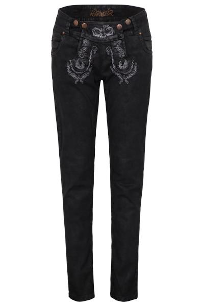 Trachtenjeans Color Jeans Classic schwarz Hangowear