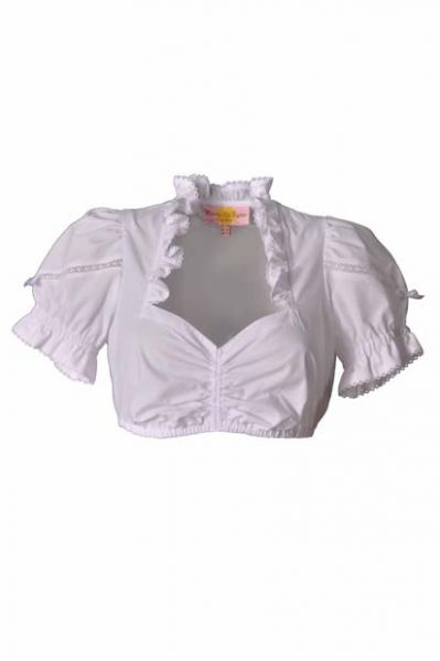 ROSALIE DIRNDLBLUSE WEISS SPITZE V. COUNTRY LIFE LEKRA