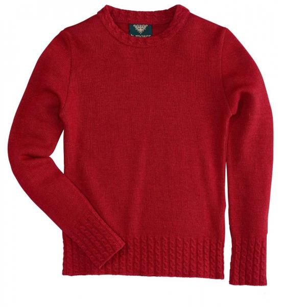 Trachten Pullover Böhen rot Wolle/Kaschmir Hohenstaufen H. Moser
