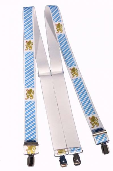 Trachtenhosenträger Hosenträger Trachten Löwe blau/weiß Bayern