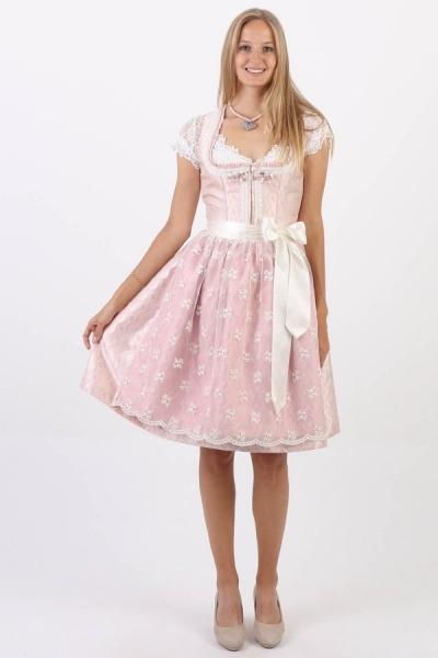 Dirndl midi 60 cm Princess rosa creme Krüger