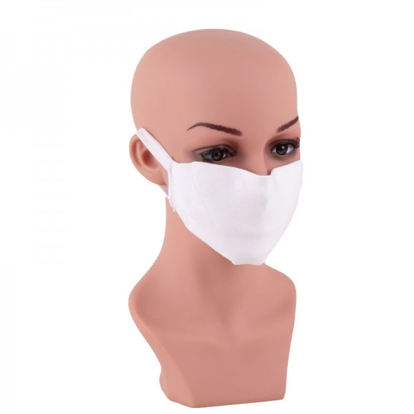 Mund- und Nasenbehelfsmaske Nasenmaske Gesichtsmaske weiß kochbar JD