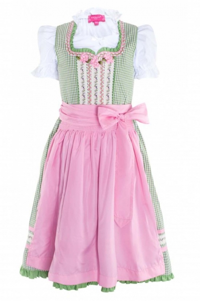 Kinderdirndl 3-tlg. grün/pink Krüger Designer