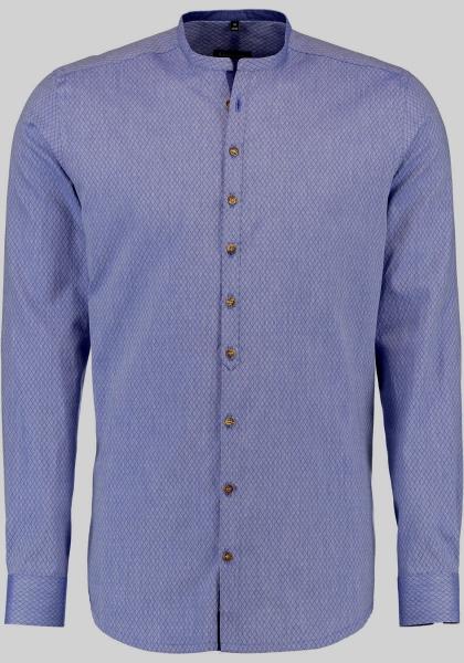 Trachtenhemd Deutenkofen blau Body Fit Langarm OS Trachten
