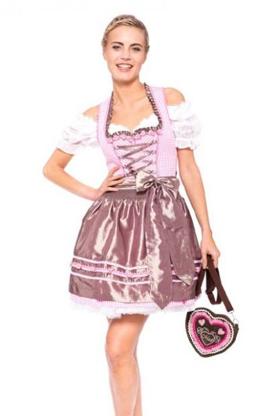 Dirndl mini 55 cm Sweetie Pie rose/braun Krüger