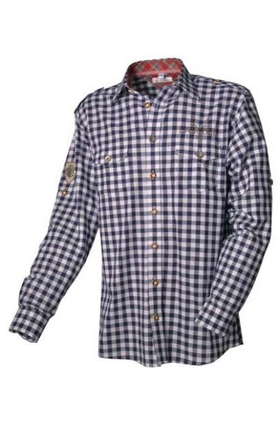 Trachtenhemd Lausbub Karo dunkelblau Krempelarn OS Trachten