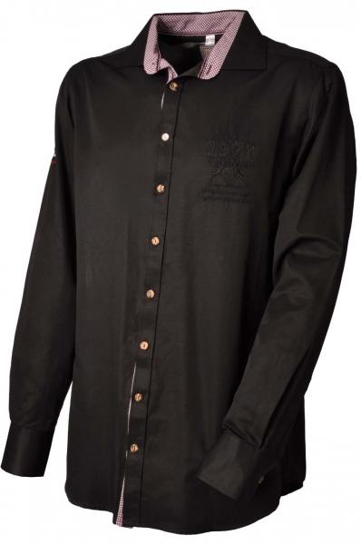 Trachtenhemd Iffeldorf schwarz OS Trachten